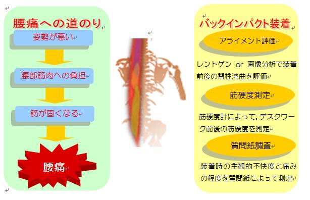 腰痛ベルト(コルセット)実験案